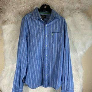 Abercrombie & Fitch Blue White Stripe Large Mens B
